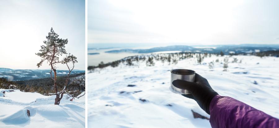 Kaffepaus på Slåttdalsberget