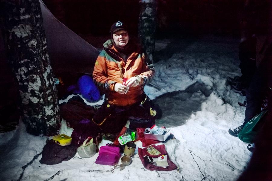 Joppe Ranta ger tips om vildmarksliv vintertid