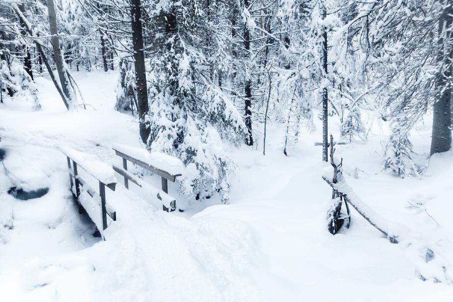 Bro under snötäcke