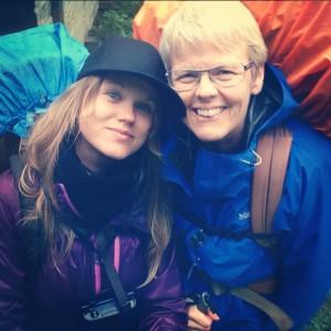 Jag och mamma på Roslagsleden