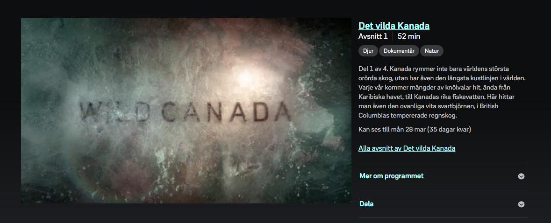 Wild Canada SVT
